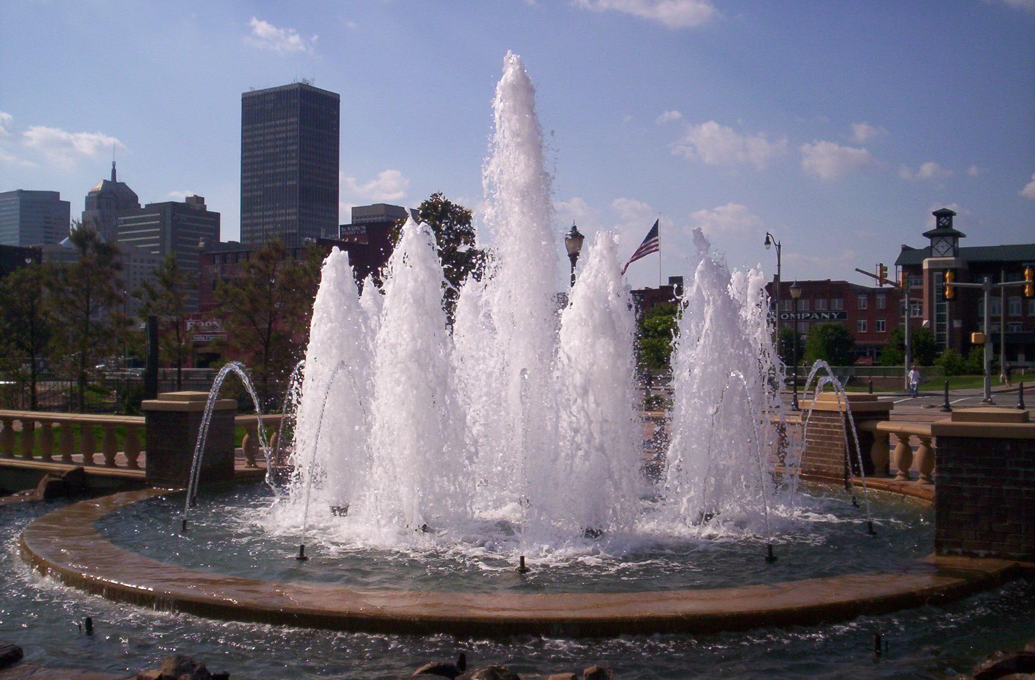 喷泉电路效果按装图片